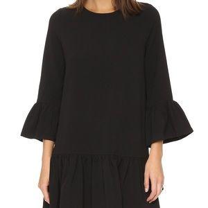 Ganni Dresses - Gianni Black Santa Monica Dress Fluted Sleeves